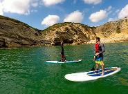 Yoga on SUP board Lagos, Sagres