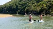 family trip Aljezur river SUP boarding