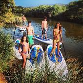 SUP boarding family trip Algarve