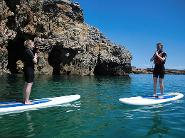 Yoga on stand-up paddle board Algarve